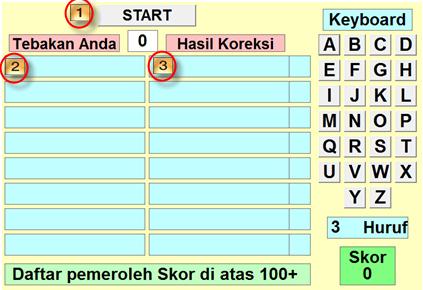dapat digunakan untuk melatih anak menyusun kata dalam bahasa inggris